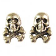 Sterling Silver Stud Earrings - Skull & Crossbones